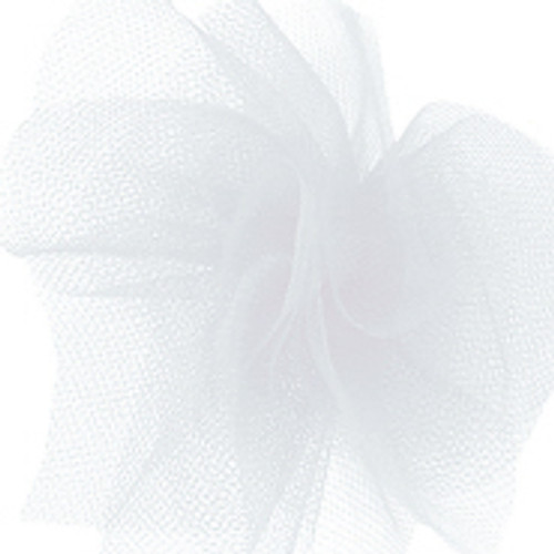 Solid Tulle Fabric -White