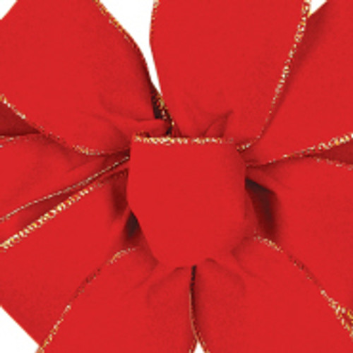 Red Noble Wired Velvet Ribbon