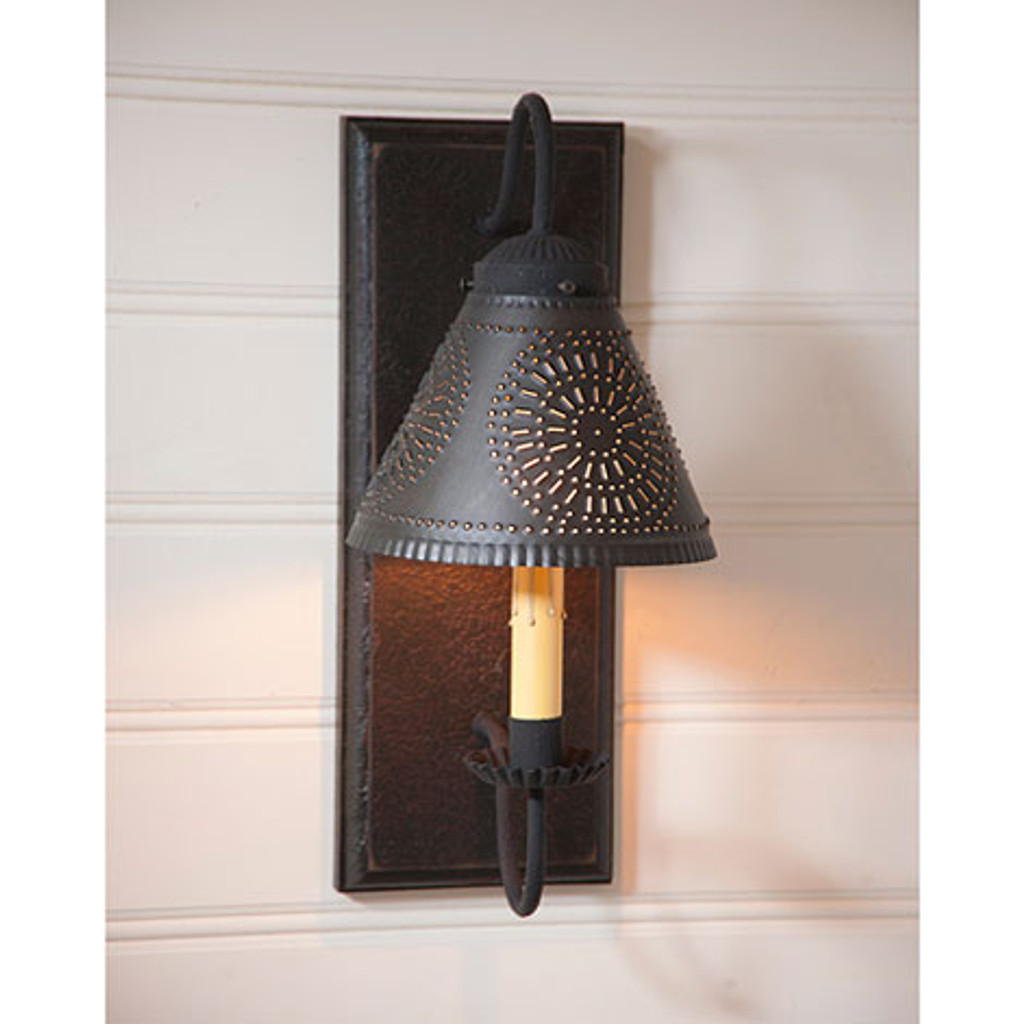 irvin s tinware crestwood wall sconce colonial lighting