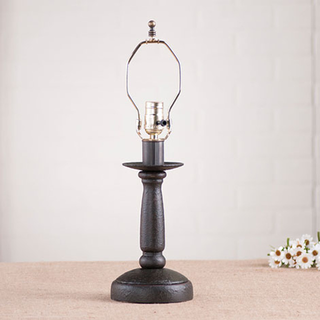Irvin's Butchers Chamberstick Lamp In Americana Black