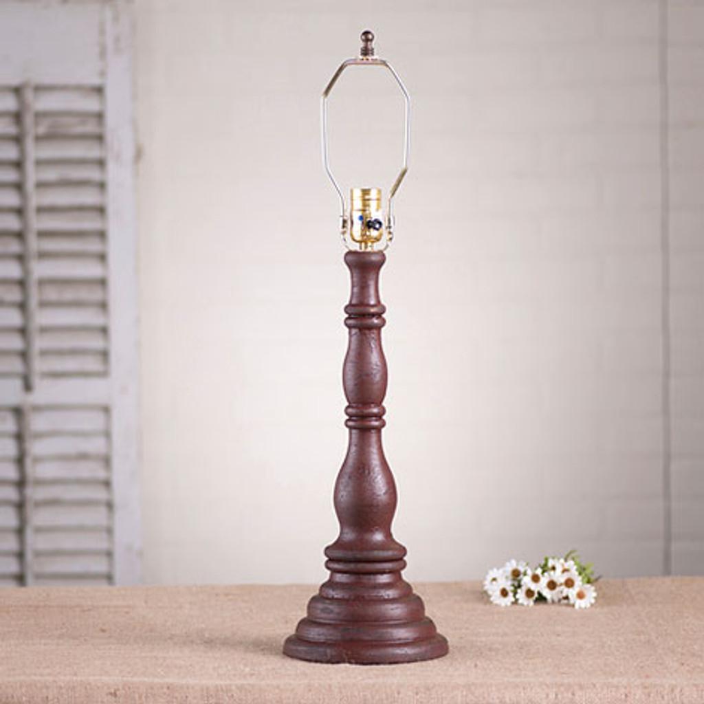 Irvin's Davenport Lamp In Americana Plantation Red