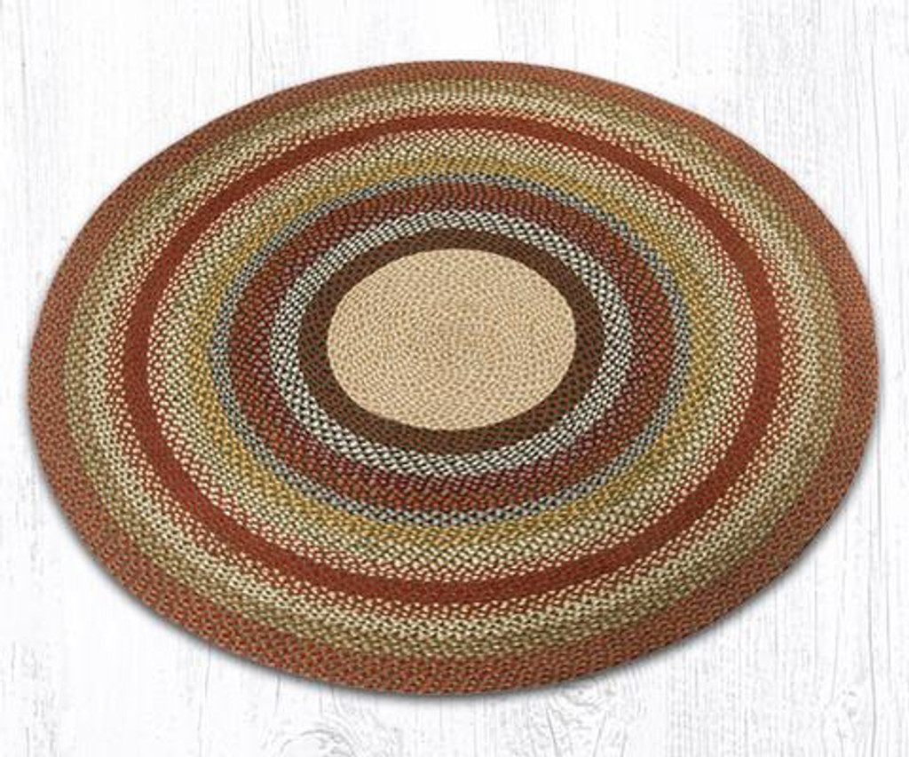Earth Rugs™ round braided jute rug in pictured in: Honey/Vanilla/Ginger - C-300