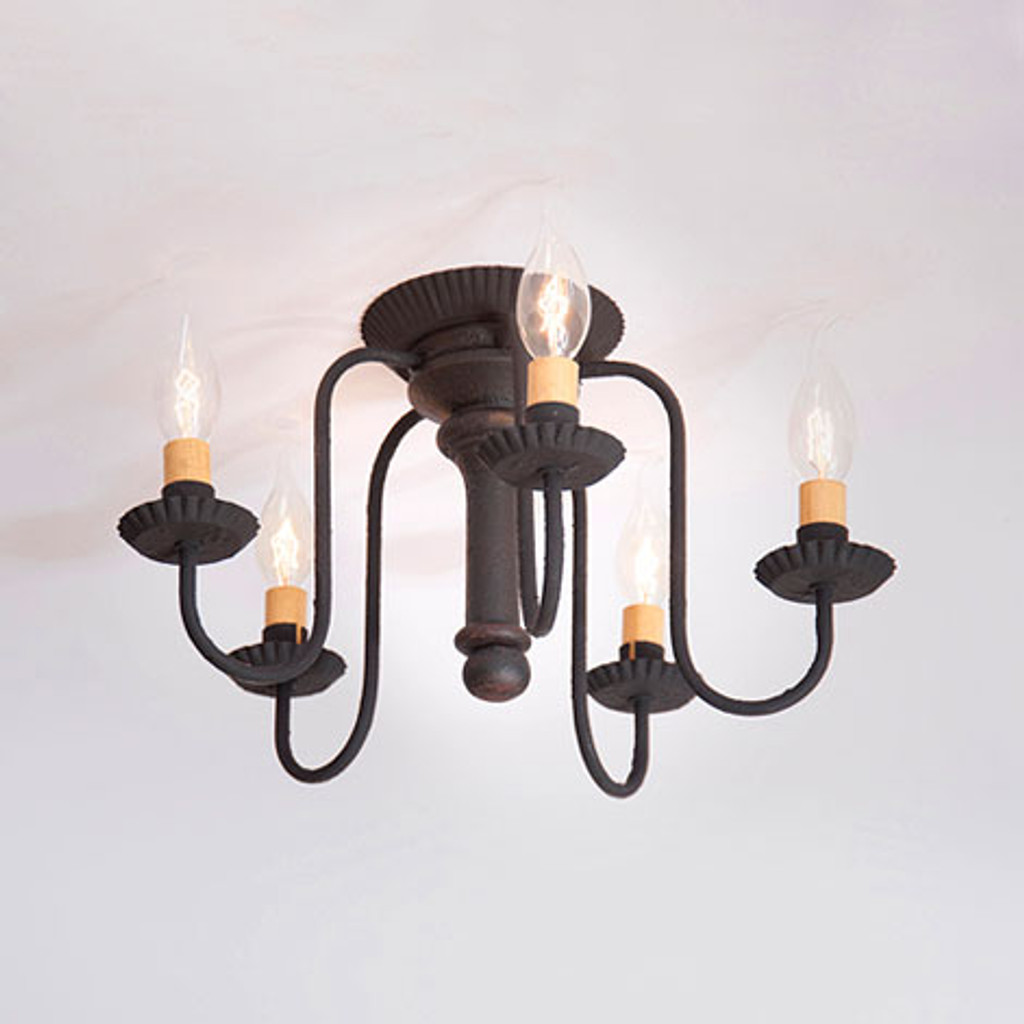 Irvin's Berkshire Ceiling Light In Americana Black