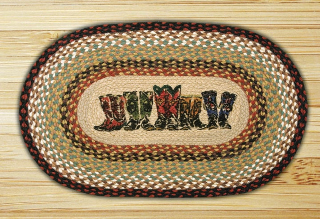 Earth Rugs™ Oval Patch Rug - Boots - OP-019