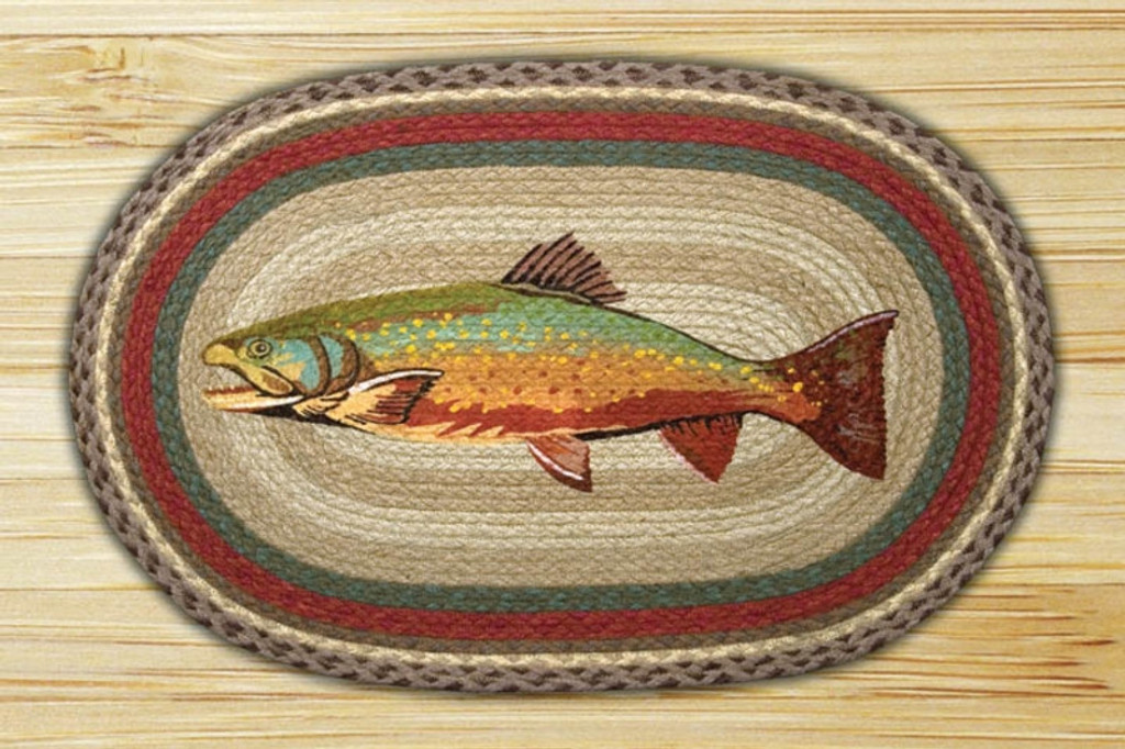 Earth Rugs™ Oval Patch Rug - Trout - OP-244