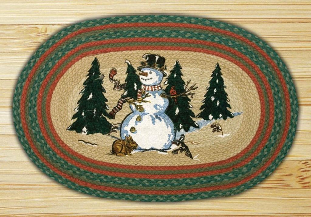 Earth Rugs™ Oval Patch Rug - Winter Wonderland - OP-246