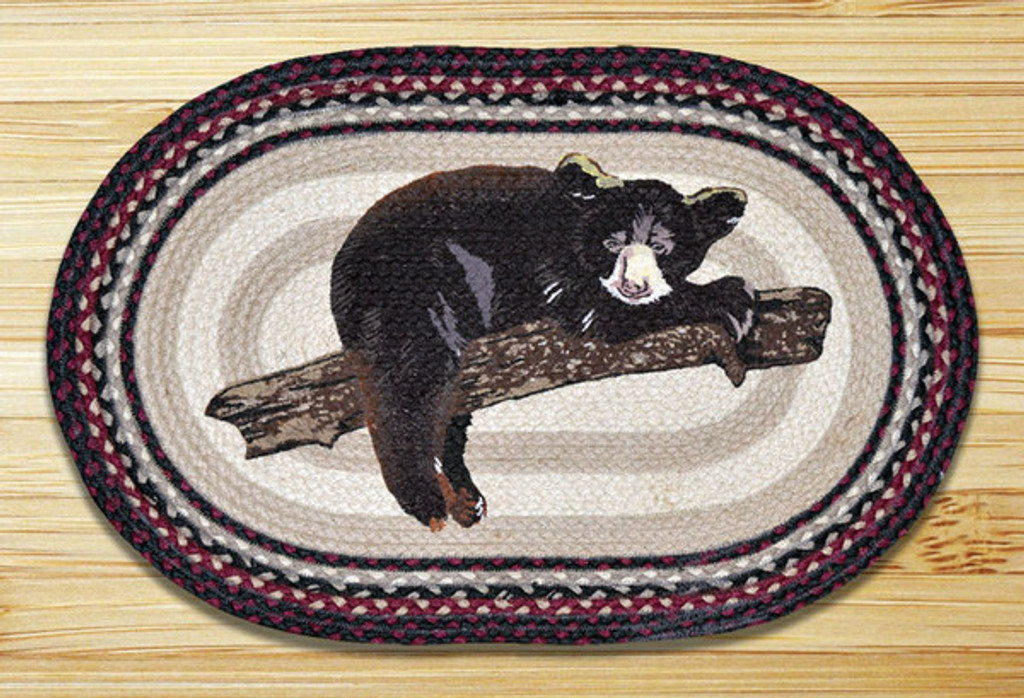 Earth Rugs™ Oval Patch Rug - Baby Bear - OP-344
