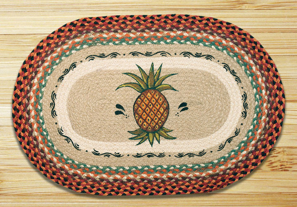 Earth Rugs™ Oval Patch Rug - Pineapple - OP-375