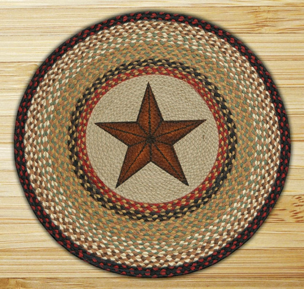 Earth Rugs™ Oval Patch Rug - Barn Star - RP-019