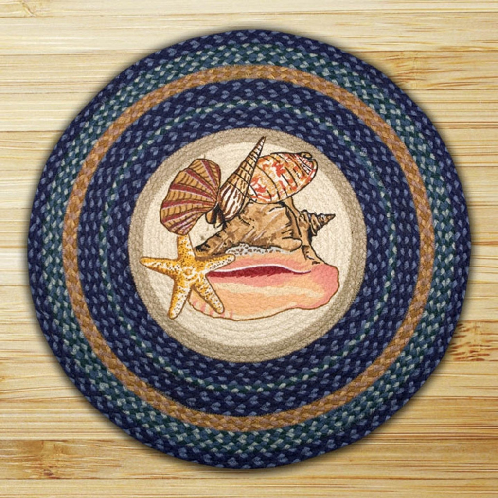 Earth Rugs™ Oval Patch Rug - Sea Shells - RP-353