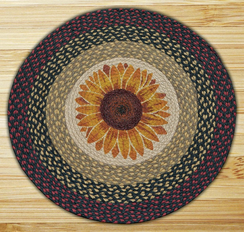 Earth Rugs™ Oval Patch Rug - Sunflower - RP-919