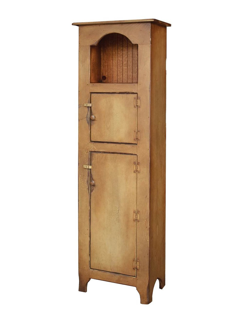 Amish Handcrafted Grandmother's Cupboard by Vintage Creations By Sam - Finished In Antique 2-Tone Sage With Heritage Stain