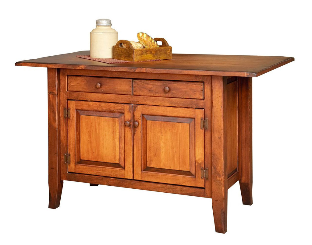 Amish Handcrafted Medium Country Kitchen Island by Vintage Creations By Sam - Finished In Antique Finish With Heritage Stain