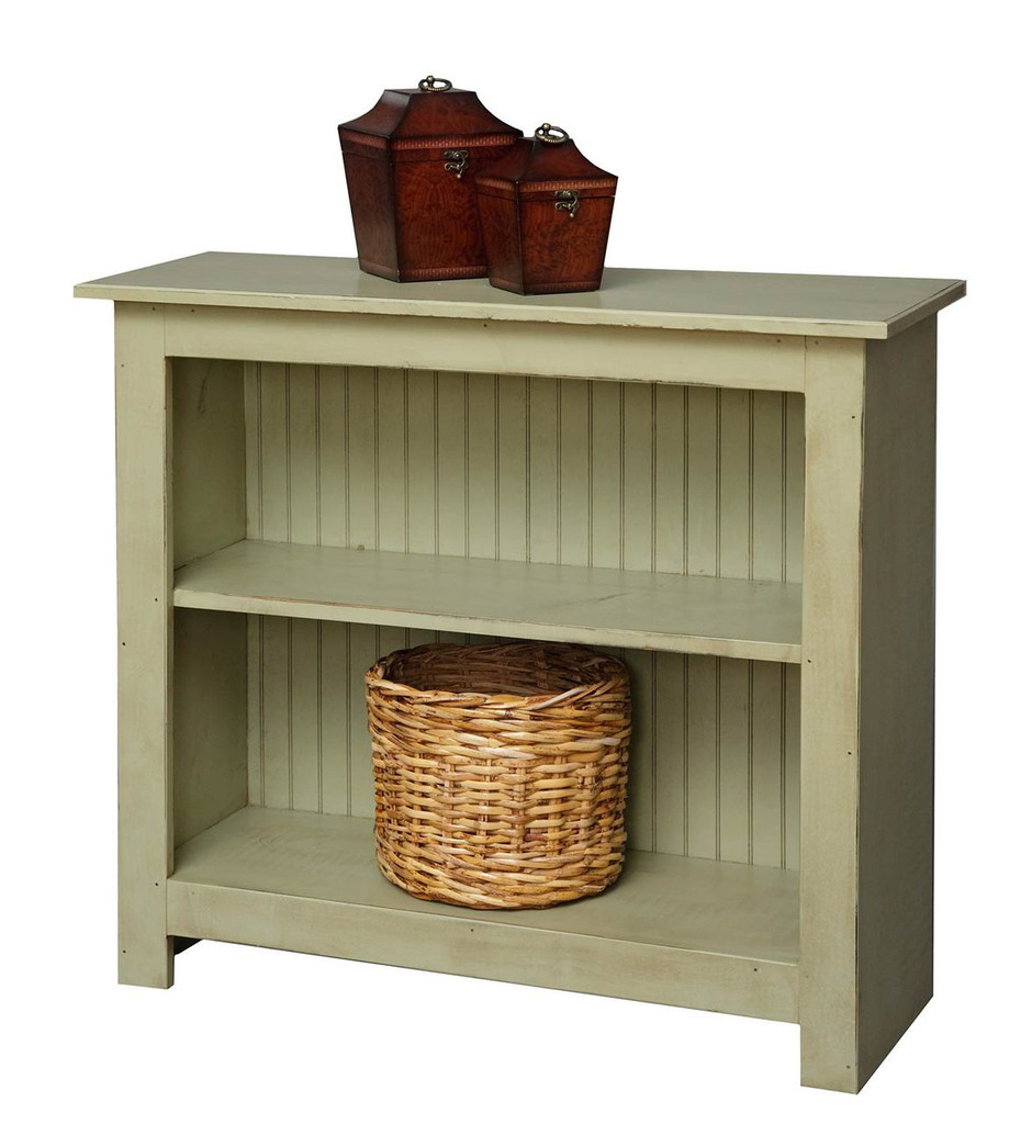 Amish Handcrafted 3 Foot Bookcase by Vintage Creations By Sam - Finished In Distressed Finish, Sage
