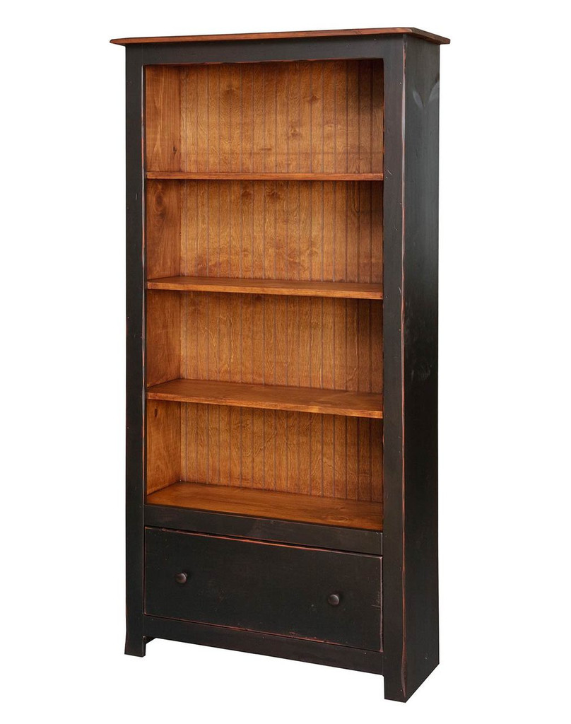 bookcase pin bookcases with doors style shaker available widths amish