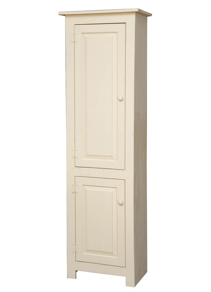 Amish Handcrafted New England 2 Door by Vintage Creations By Sam - Finished In Distressed Finish, Cream White