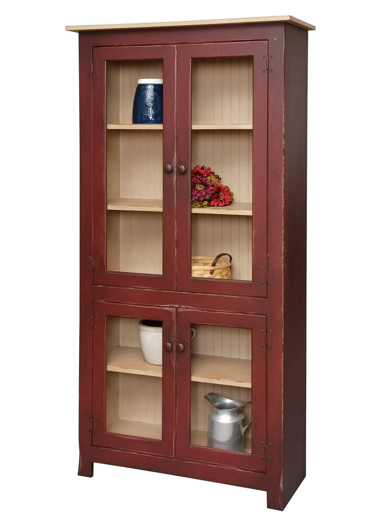 Gentil Amish Handcrafted Large Curio Cabinet By Vintage Creations By Sam    Finished In Antique 2