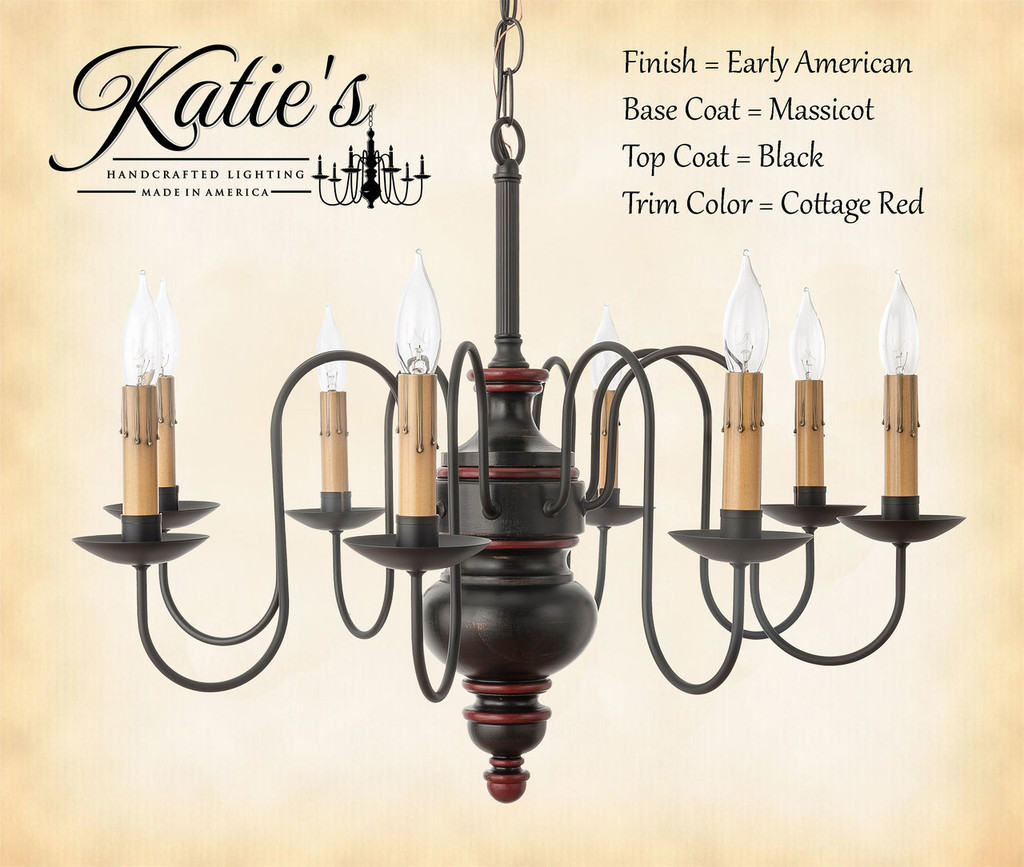 Katies handcrafted lighting chesapeake chandelier country chandliers click here to enlarge arubaitofo Gallery