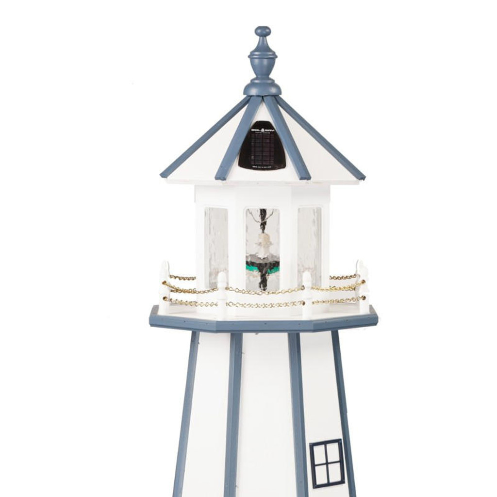 Solar Light Kit Installed On Garden Lighthouse