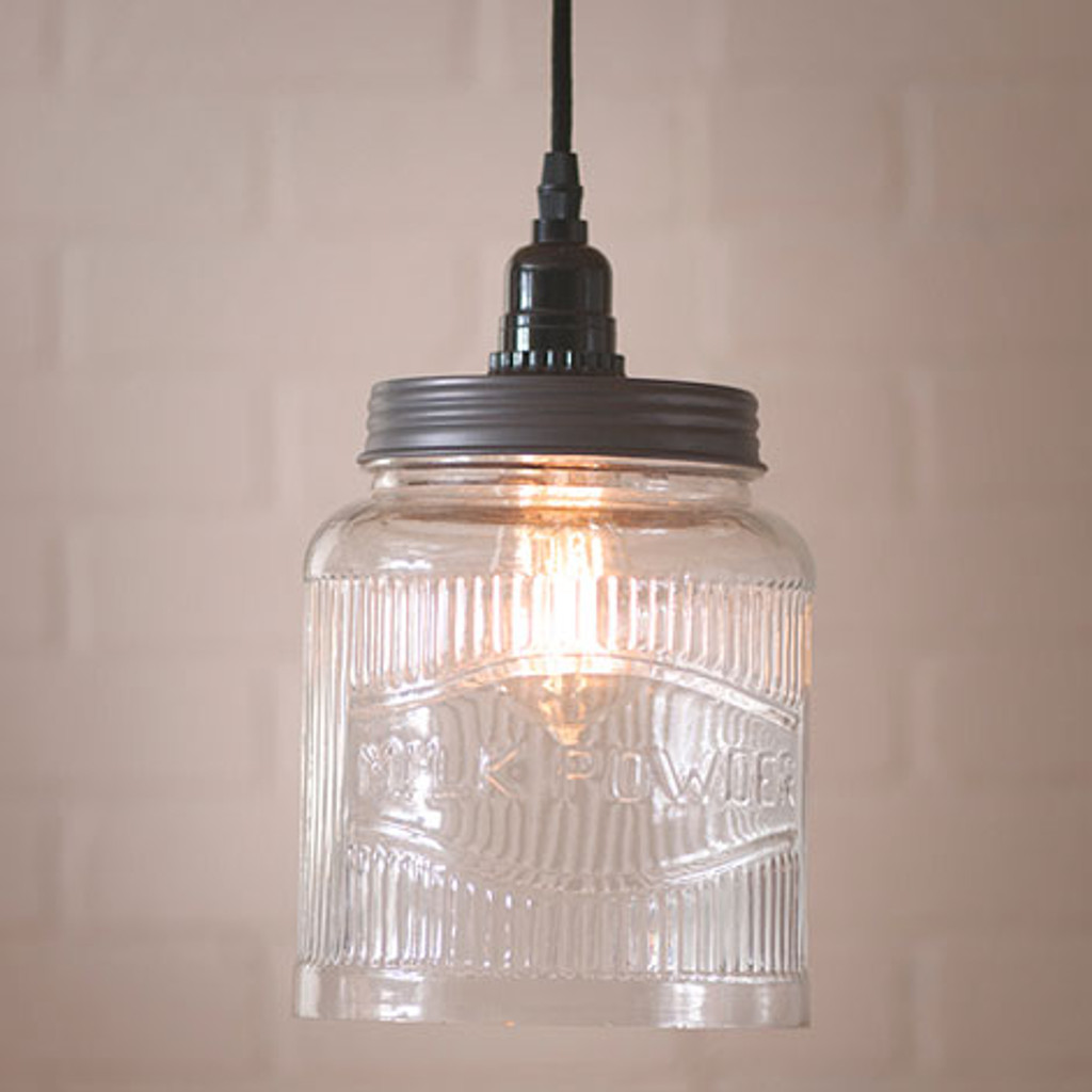 Irvin's Tinware Large Ribbed Pendant Light