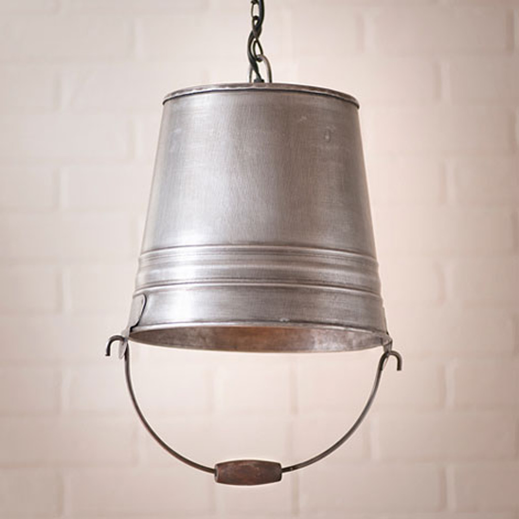 The Farmhouse Collection Water Bucket Pendant Light  by Irvin's Tinware