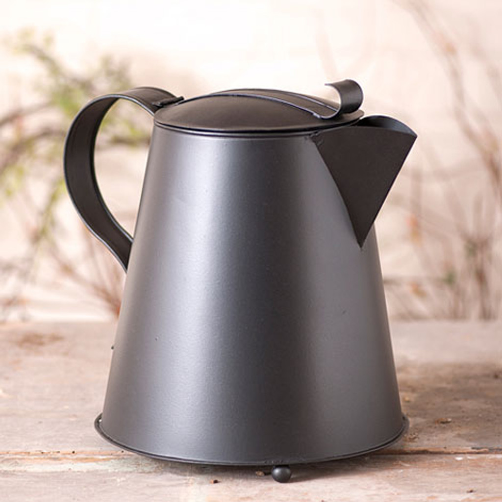 Irvin's Tinware Coffee Pot Finished In Smokey Black