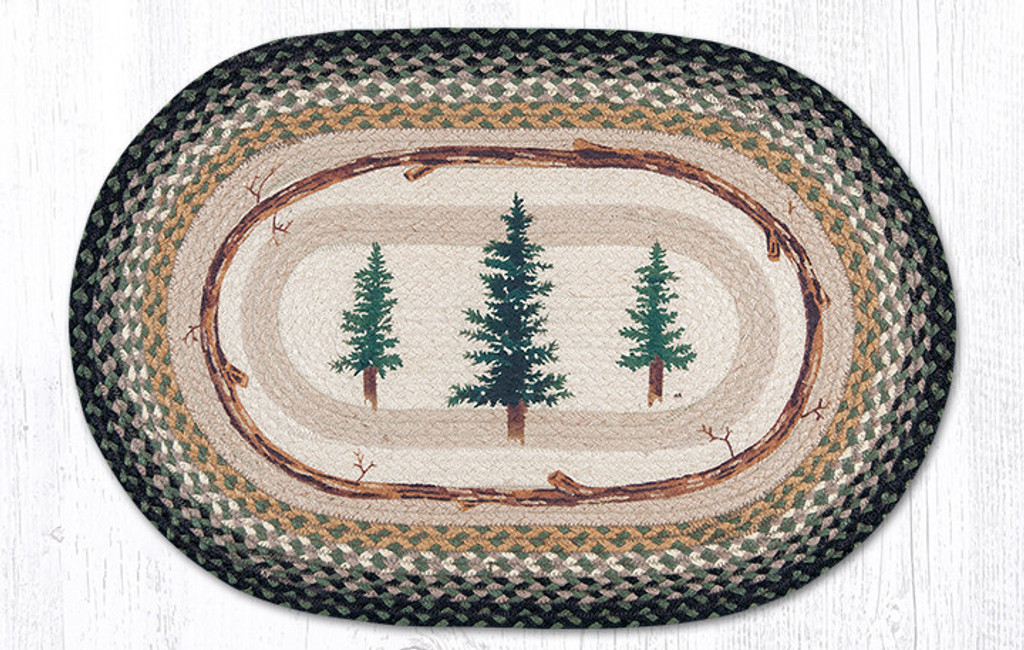 Earth Rugs™ Oval Patch Rug - Tall Timbers - OP-116
