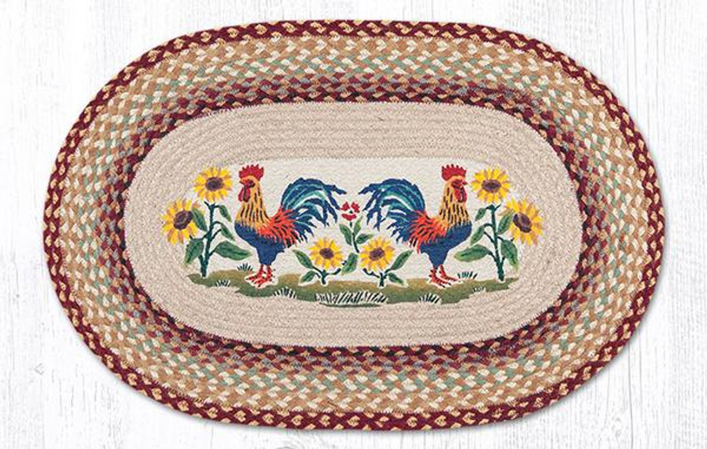 Earth Rugs™ Oval Patch Rug - Country Morning - OP-357