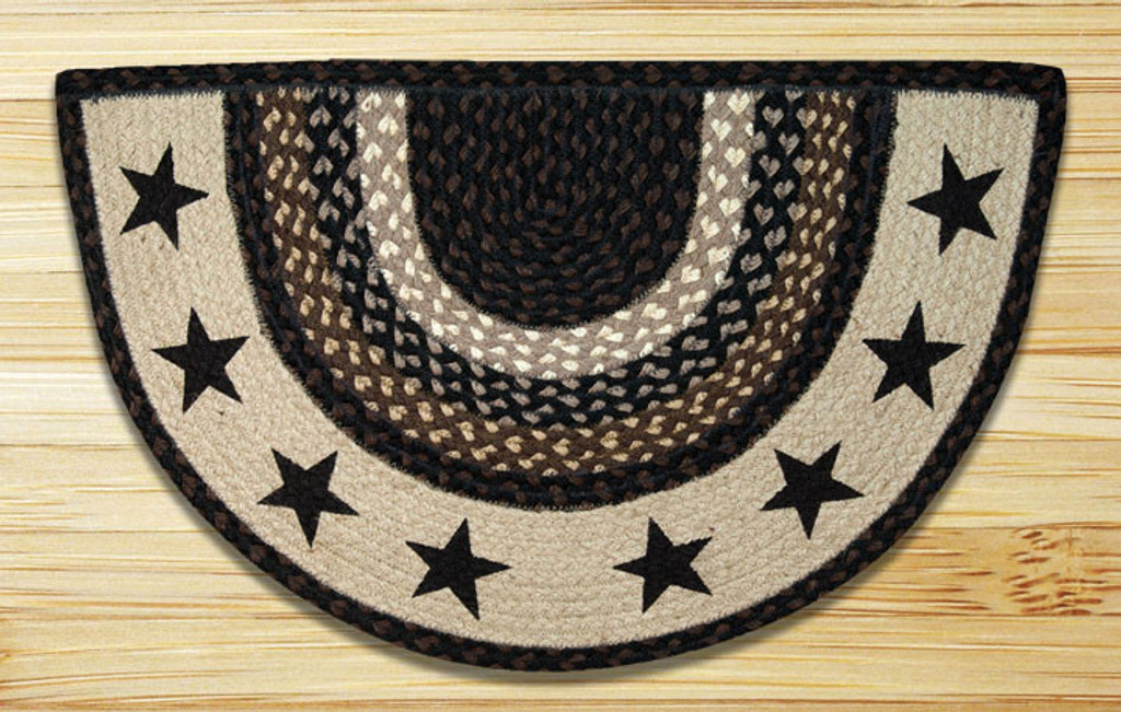 Earth Rugs™ Slice Patch Rug - Black Stars