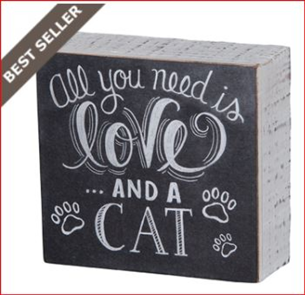 And A Cat Chalk Box Sign