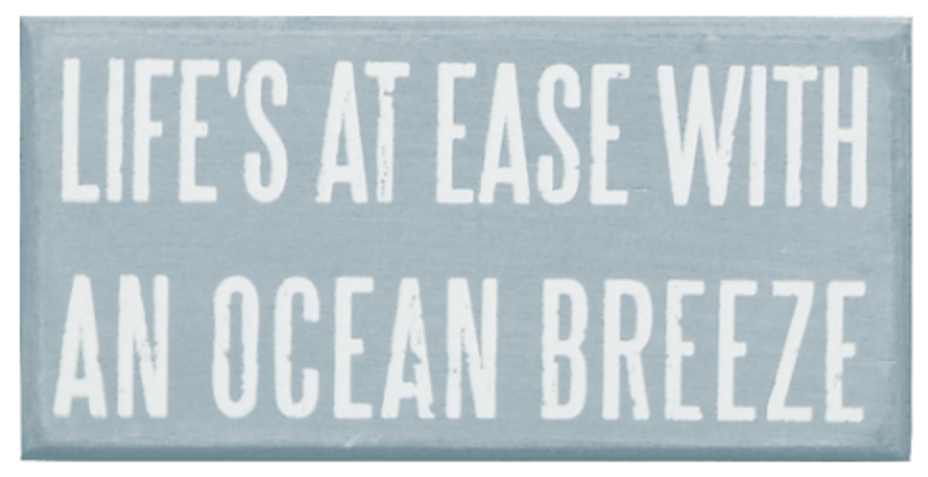 Ocean Breezes Box Sign