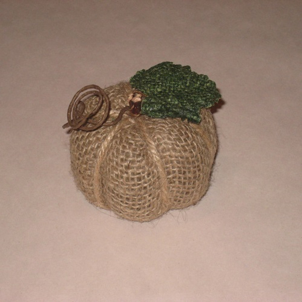Small Burlap Pumpkin