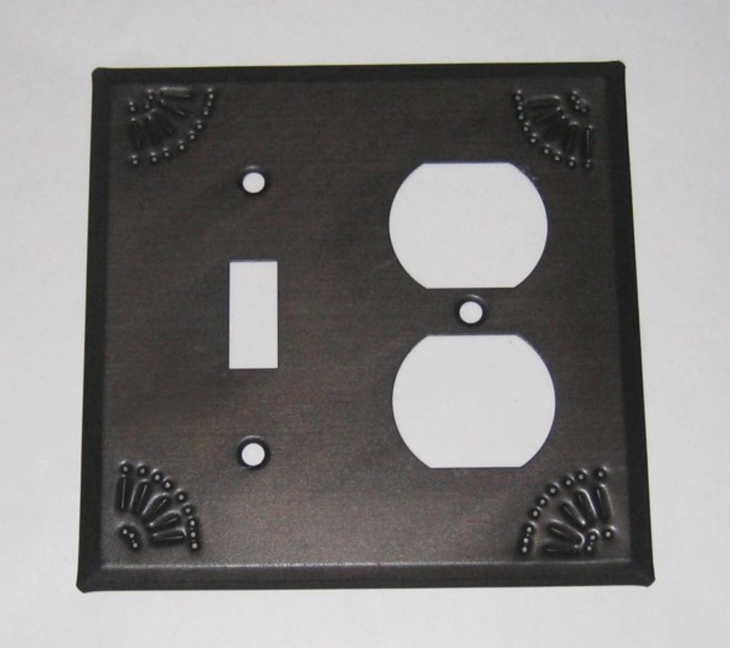 Kettle Black Outlet Switch Cover Chisel Design