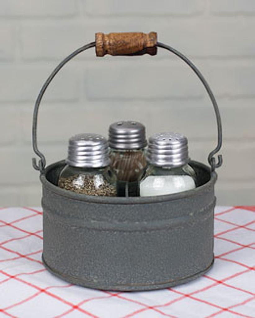 Mason Jar Salt Pepper and Toothpick Caddy