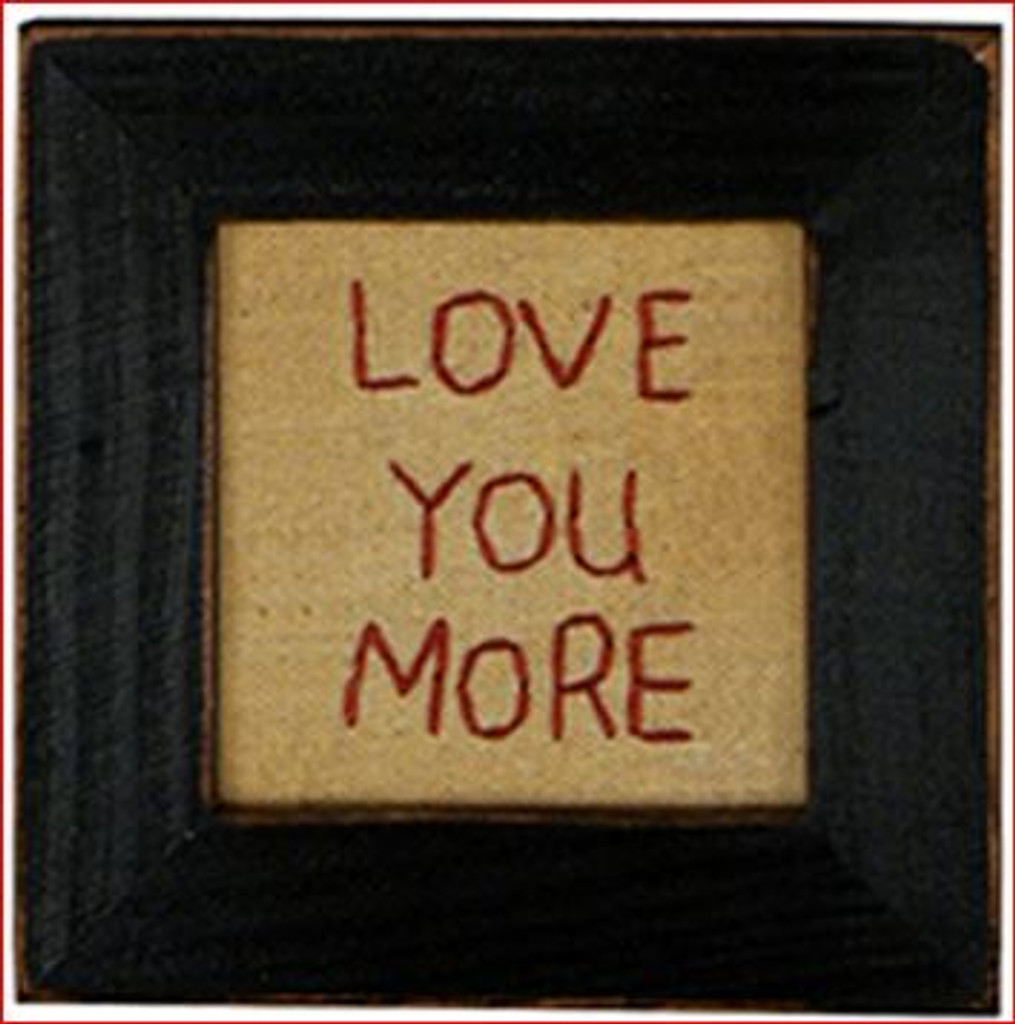 Love You More Stitchery