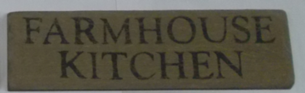 Farmhouse Kitchen Wooden Sign