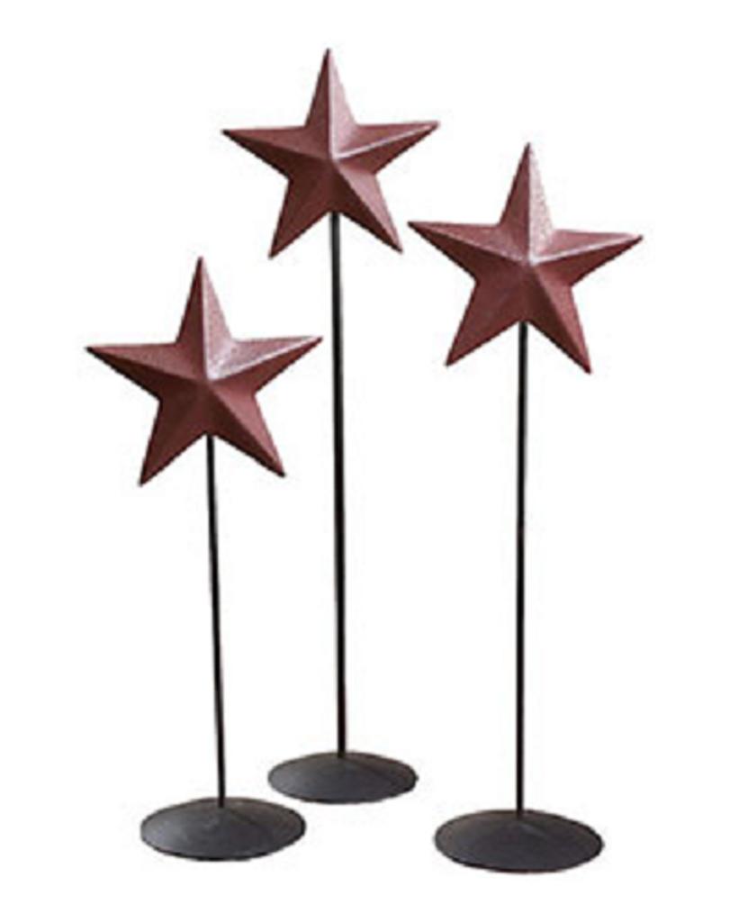 Burgundy Barn Star Pedestal