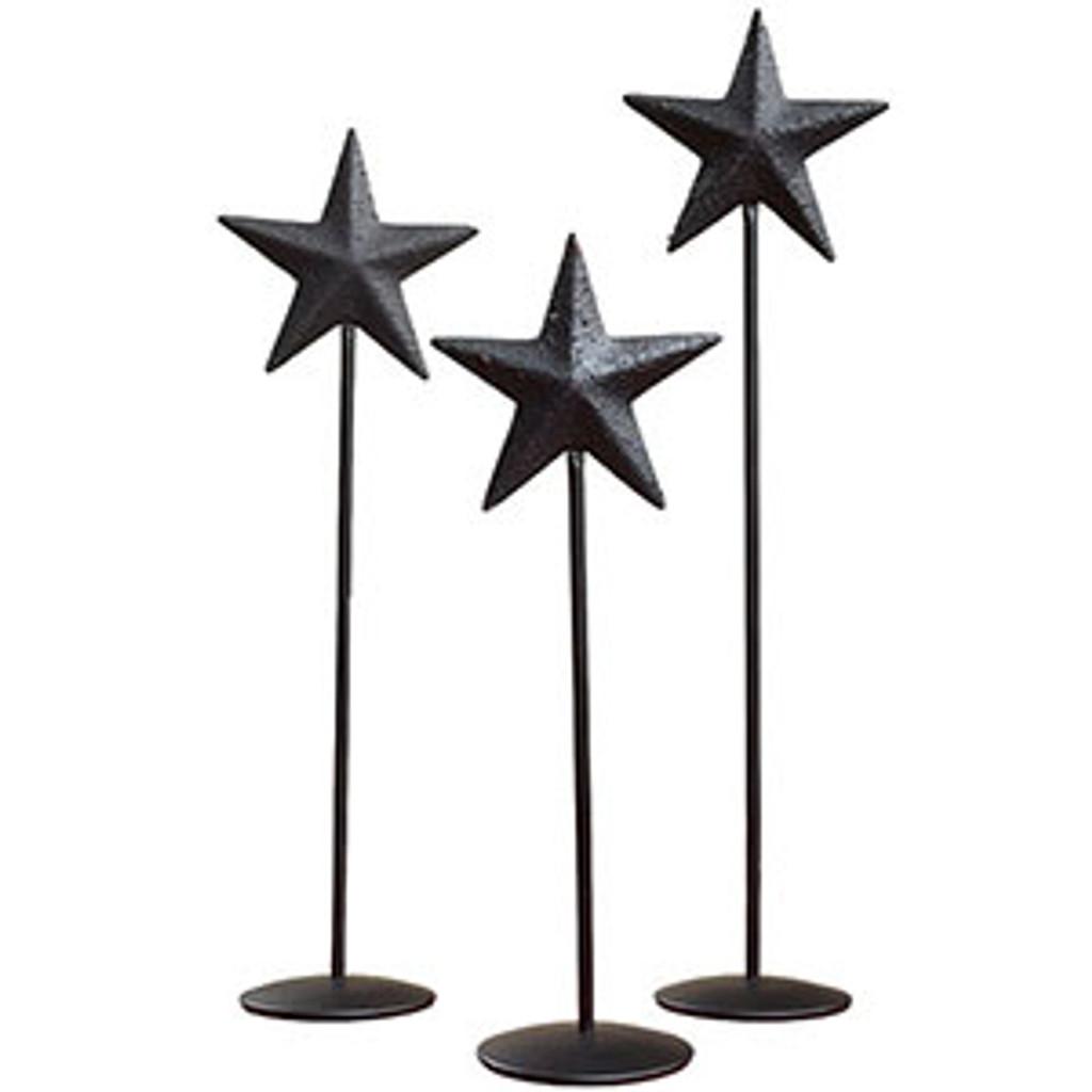 Little Black Barn Star Pedestal