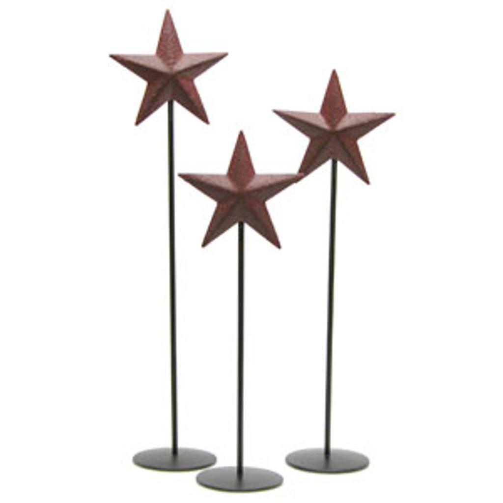 Little Burgundy Barn Star Pedestal