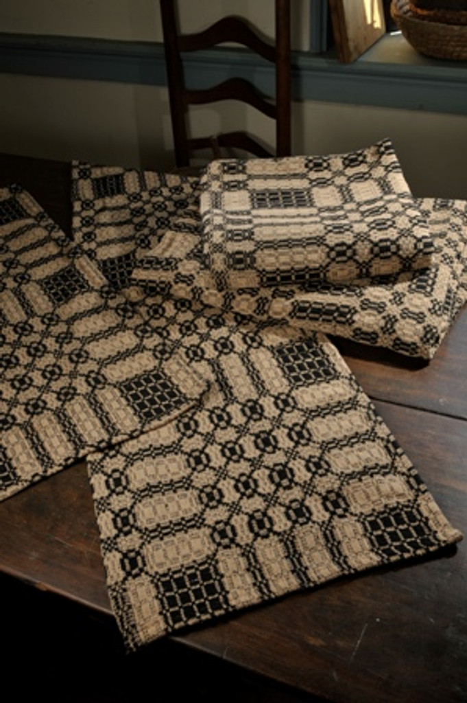 Black and Tan Table Runner