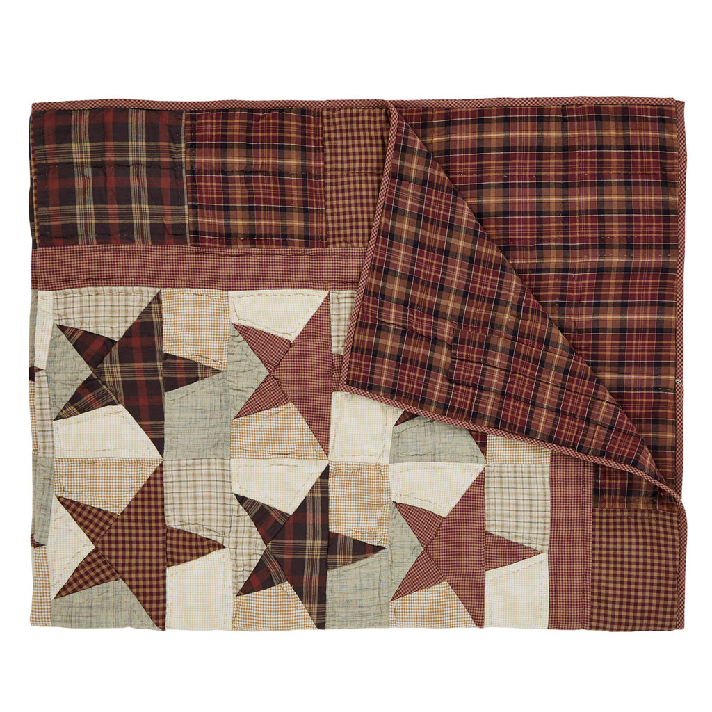 Abilene Star Quilted Throw Folded