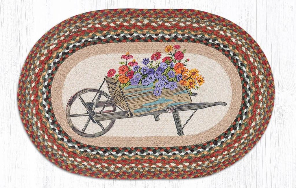 Earth Rugs™ Oval Patch Rug - Wheelbarrow - OP-300
