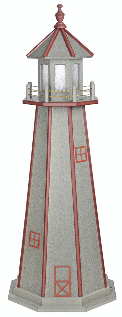 Amish Handcrafted Poly Premium Garden Lighthouse - Standard Model