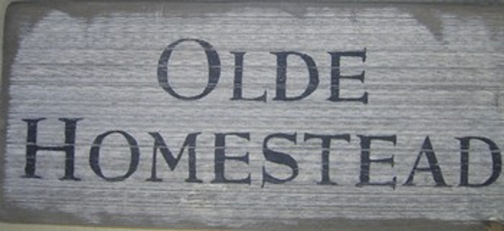 Olde Homestead Wooden Sign
