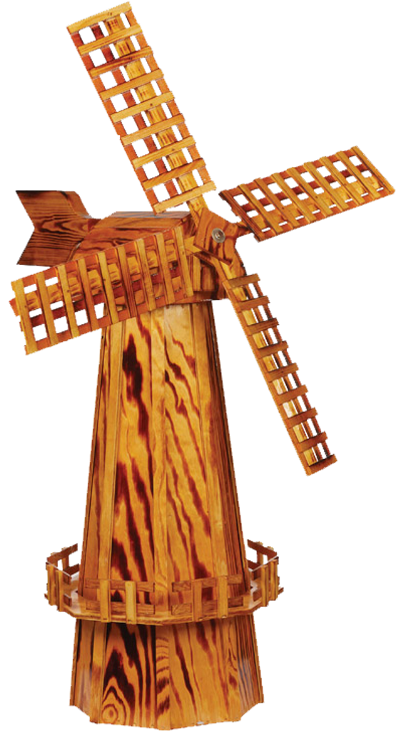 Amish Made Wooden Windmill