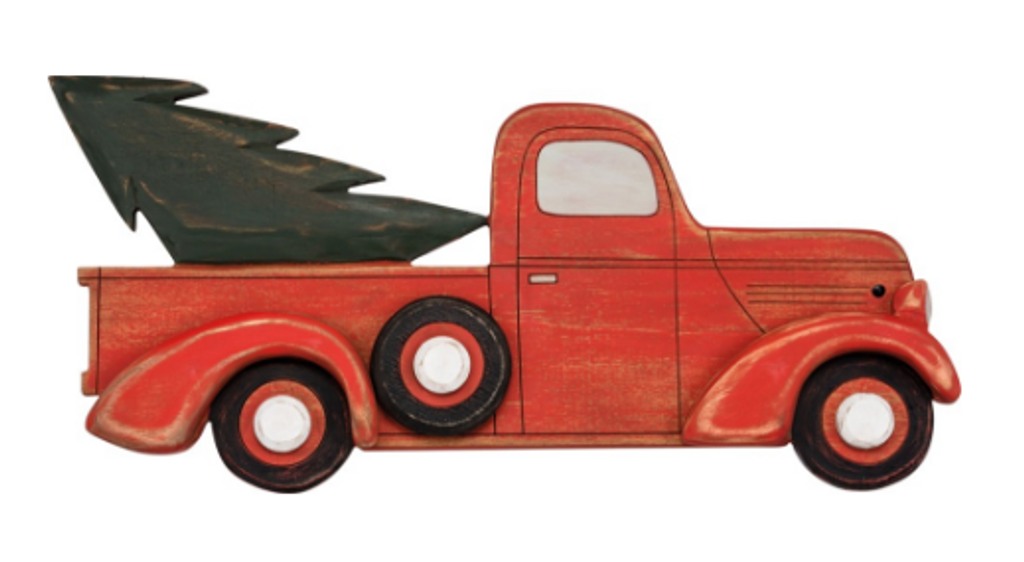 Truck with Tree Plaque