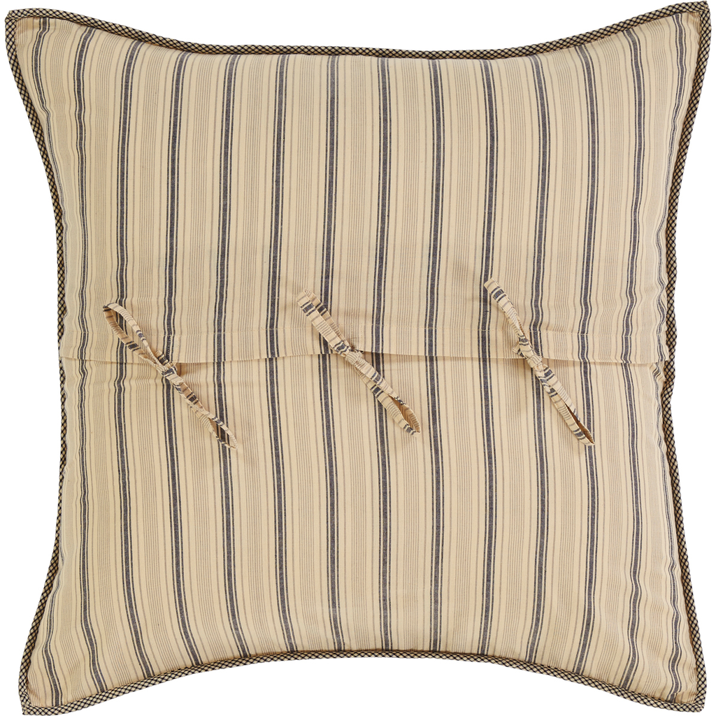 Sawyer Mill Charcoal Quilted Euro Sham by VHC Brands - Back
