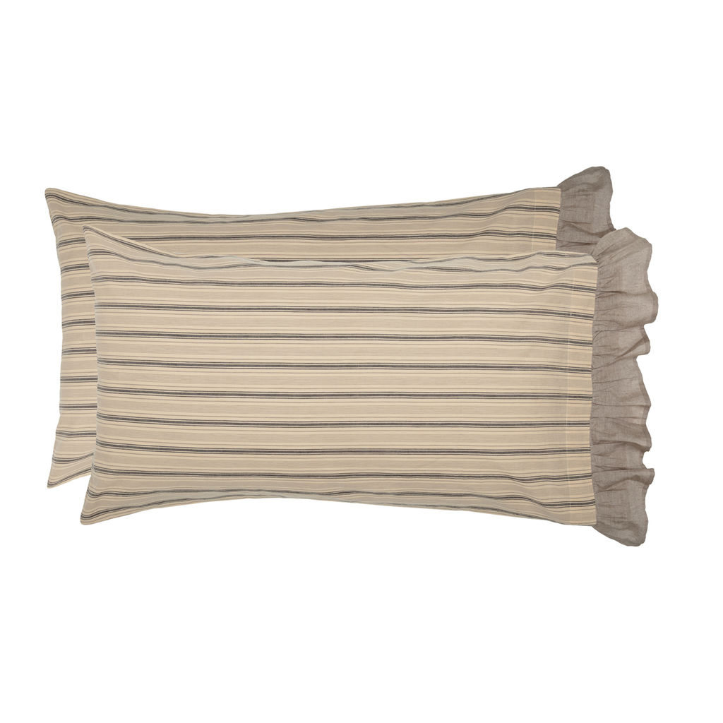 Sawyer Mill Charcoal Pillow Case Set by VHC Brands - King