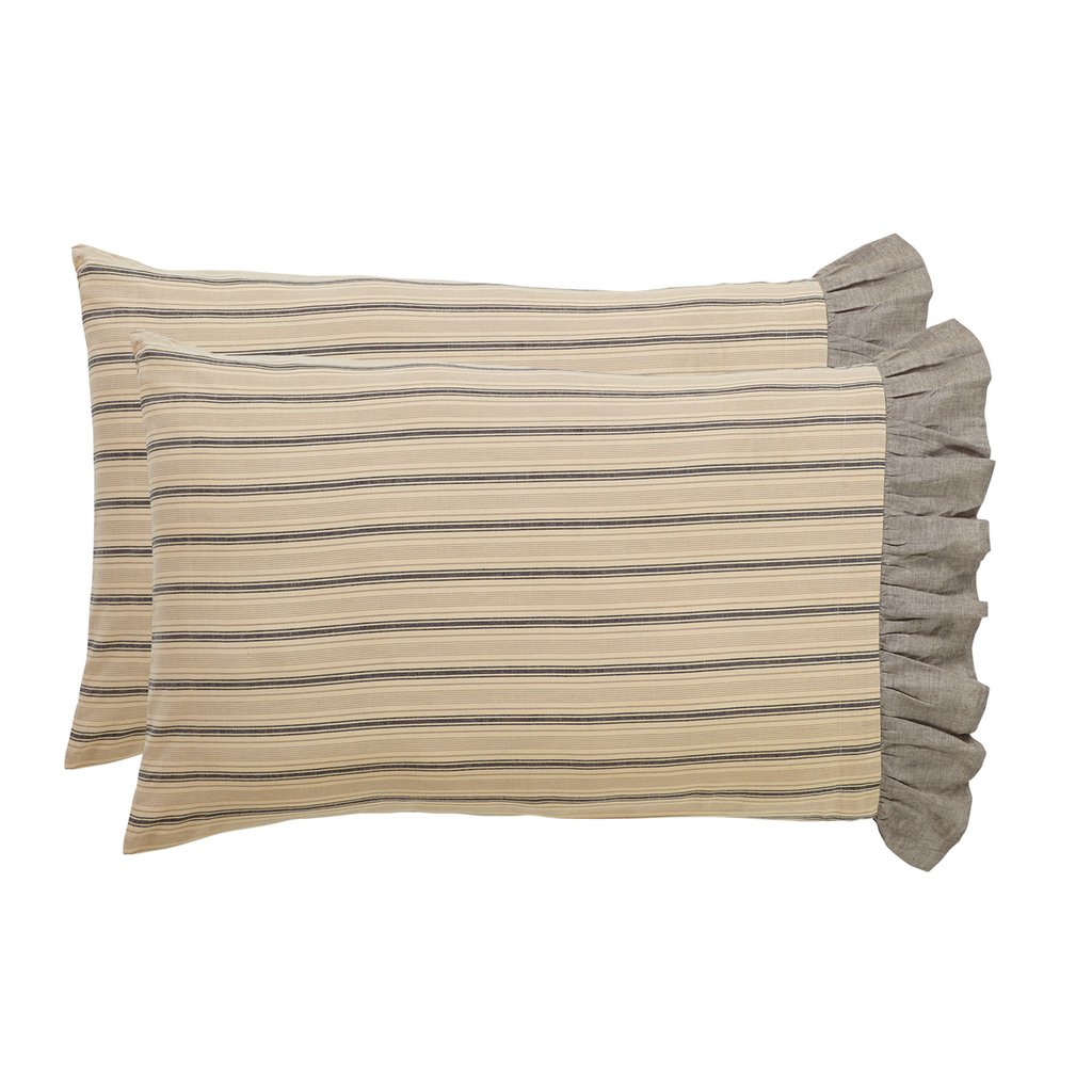 Sawyer Mill Charcoal Pillow Case Set by VHC Brands - Standard