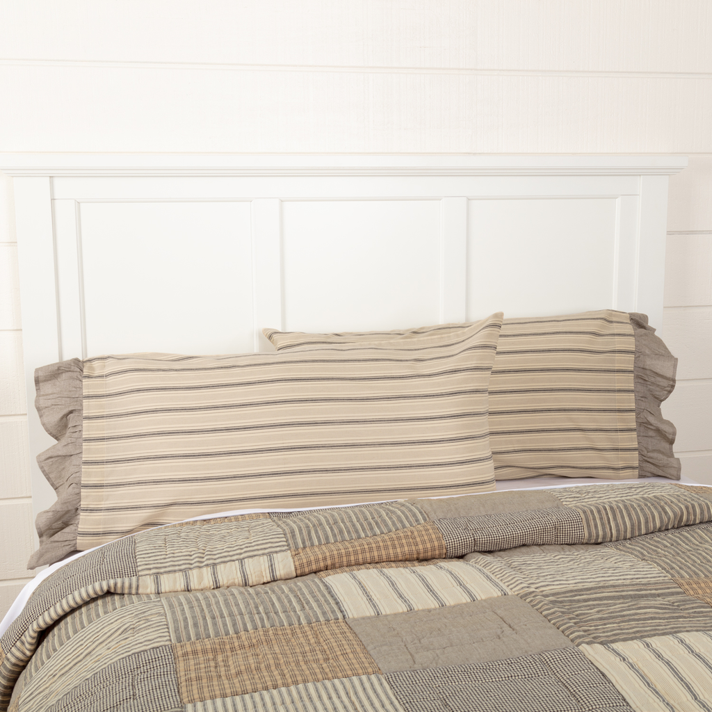 Sawyer Mill Charcoal Collection Pillow Case Set by VHC Brand
